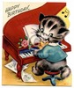 Thumbnail Vintage Birthday Greeting Card image Kitty