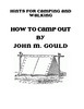 Vintage Book HOW TO CAMP OUT By JOHN M. GOULD 1877