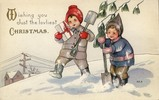 Thumbnail VINTAGE WISHING YOU JUST THE LOVLIEST CHRISTMAS CARD