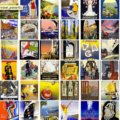 Product picture High Res Vintage Travel Poster Images