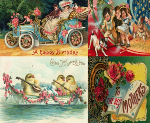 Product picture ANTIQUE HOLIDAY POSTCARDS HUGE IMAGES COLLECTION