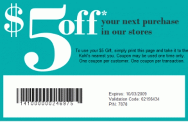 Product picture Get Unlimited $5 Kohls coupons FREE EASY 10